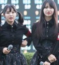 K-pop girl group Pritz is under fire for outfits that resembled Nazi uniforms. (Courtesy of Twitter)