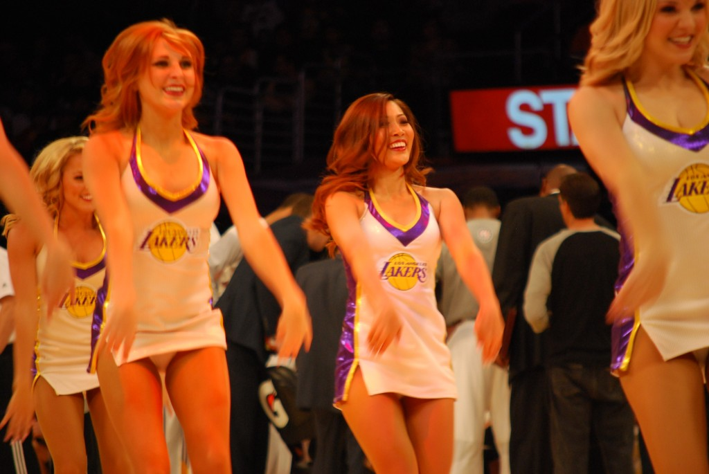"""There's a feeling of camaraderie and pride that's unmatched when you're a Laker Girl,"" Pang said. (Korea Times)"