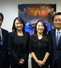 Event organizers Tom Cho, far right, Choi Kyung-eun, Park Hyun-ju, Heo Dong-hyun. (The Korea Times)