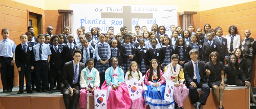 Students at Whispering Pines Seventh-day Adventist School in Long Island. (Courtesy of Korean Education Center in New York)