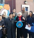 Senator Tony Ann Stavinsky, third from right, speaks at a press conference Thursday about a law that calls for Lunar New Year to be designated a public school holiday.