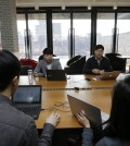 An office in the Gangnam district in Seoul, South Korea (AP Photo/Ahn Young-joon)