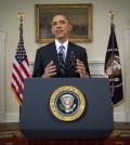 President Barack Obama speaks in the Cabinet Room of the White House in Washington, Wednesday, Dec. 17, 2014. (AP Photo/Doug Mills, Pool)