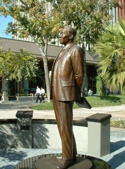 Bronze statue memorial of Ahn Chang-ho in Riverside, Calif. (Courtesy of the City of Riverside)