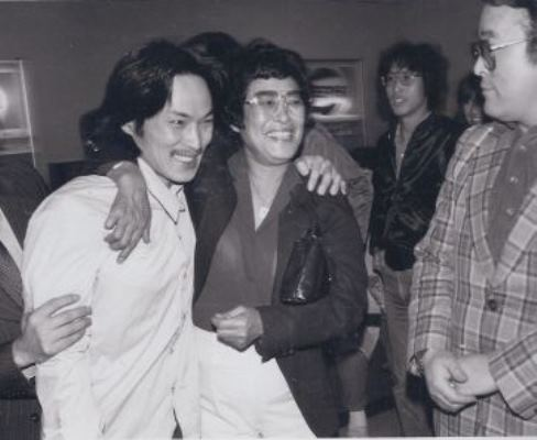 Chol Soo-lee, left, after being freed of a wrongful conviction in 1973. (K.W. Lee Facebook)