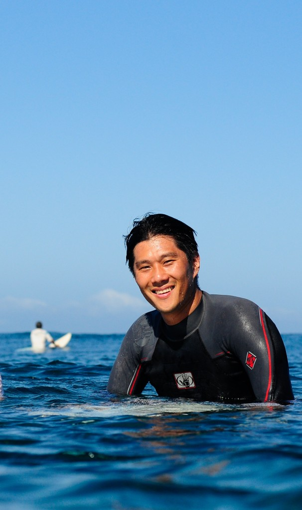Dr. Suh has graduated from video games to surfing and he has no problems with that. (Courtesy of Dr. Jeffrey Suh)