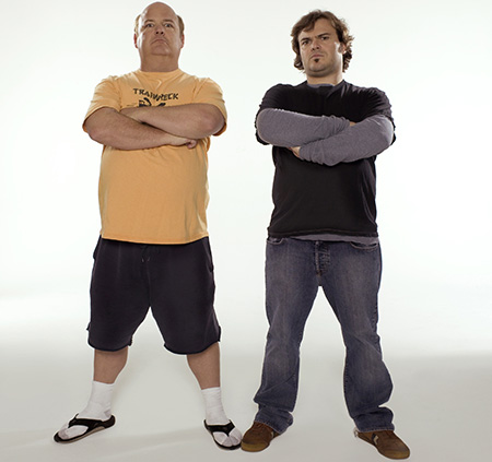 Tenacious D's Kyle Gass, left, and Jack Black (Courtesy of Private Curve)