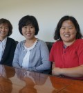 The ___'s Kang Jung-sook, left, Kim Sook-young, Ahn Ji-eun.