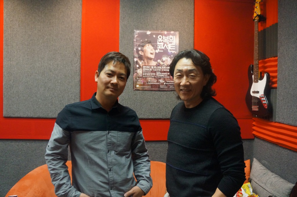 Heo Joon-ho, right, with JC Works Entertainment co-CEO Kim Jung-hoon.