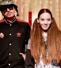 Yoon Mi-rae, right, and her husband Drinken Tiger. (NEWSis)