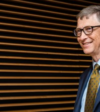 Microsoft founder Bill Gates arrives at the European Commission headquarters in Brussels on Thursday, Jan. 22, 2015. (AP Photo/Geert Vanden Wijngaert)