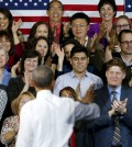 President Barack Obama waves to the crowd after giving a speech Thursday, Jan. 8, 2015, at Central High School in Phoenix.  (AP Photo/Ross D. Franklin)