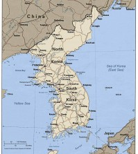Map of South and North Korea (Yonhap)