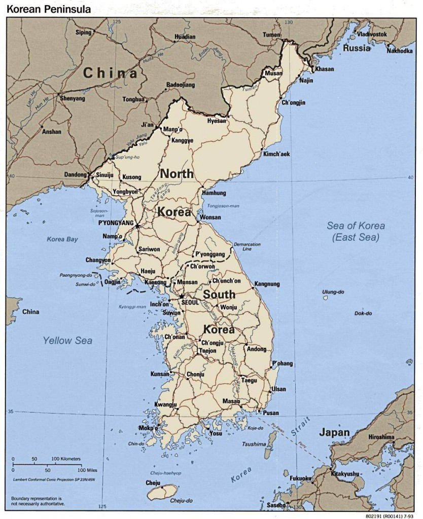 Map of South and North Korea (Yonhap)