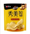 South Korean foodmaker Nongshim Co. said on Jan. 21, 2015 that its honey mustard-flavored Sumi Potato Chips, shown in the photo, posted a monthly sales record and outsold the original version of the snack, the Honey Butter Chips. (Photo courtesty of Nongshim Co.)