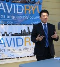 Los Angeles City Council candidate David Ryu launched a voting registration campaign Monday.