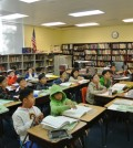 Students at KISC in Los Angeles Saturday (Park Ji-hye/Korea Times)