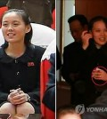 The right photo shows Kim Yo-jung, sister of North Korean leader Kim Jong-un, wearing what seems to be a wedding ring.