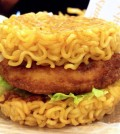 Lotteria's ramen burger (Courtesy of Johanne Miller)
