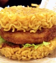 Lotteria's ramen burger (Courtesy of Johanne Miller)