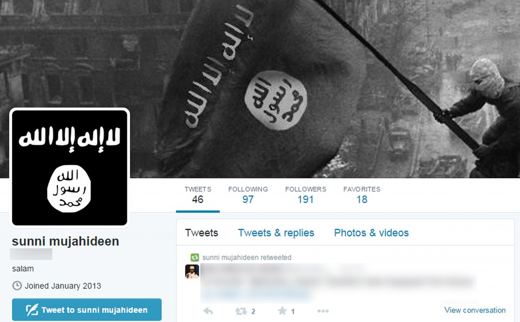 Shown is a screen capture from the Twitter account of a South Korean teenager believed to have sneaked into Syria from Turkey recently to join the militant Muslim group Islamic State. (Yonhap file photo)