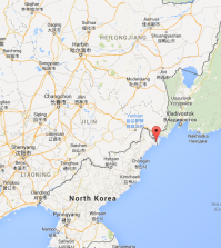 The border between China, Russia and North Korea (Courtesy of Google Maps)