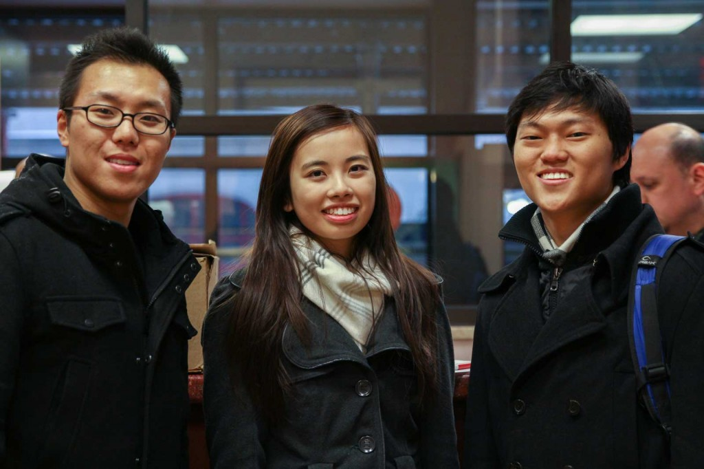 RLC founding team Robert Lee (right), Louisa Chen (center) and Paul Sun (left). (Courtesy of Rescuing Leftover Cuisine)