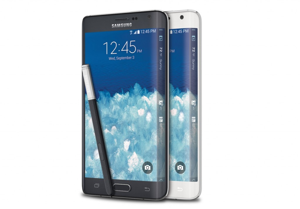 One of the Galaxy S6 models will sport two curved edges similar to the Note Edge. (Courtesy of Samsung)