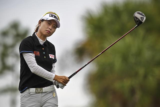 Yoo Sun-young of South Korea co-leads the LPGA Classic. (AP Photo/Naples Daily News, William DeShazer)