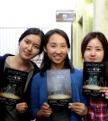 """Fading Away"" director Lee Jung-hwa, actress Jessica Yang, coordinator Shin So-hee."