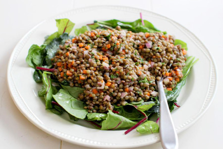 Lentil salad (AP Photo)