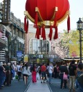 Americana at Brand readied itself for a Lunar New Year celebration Sunday. (Tae Hong/Korea Times)