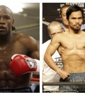 FILE - In this combination of file photos, U.S. boxer Floyd Mayweather Jr., left, prepares to spar at a gym in east London on May 22, 2009, and Manny Pacquiao, right, of the Philippines, weighs in for the junior welterweight boxing match against British boxer Ricky Hatton, May 1, 2009, in Las Vegas. The March 13 , 2010 megafight between Manny Pacquiao and Floyd Mayweather Jr. has been thrown into jeopardy. Mayweather's camp is demanding the fighters submit to Olympic-type drug testing in the weeks leading up to the bout. Leonard Ellerbe, Mayweather's manager, says the fight will not go on if Pacquiao doesn't agree to blood testing under standards followed by the United States Anti-Doping Agency. (AP Photos/Alastair Grant and Rick Bowmer, File)