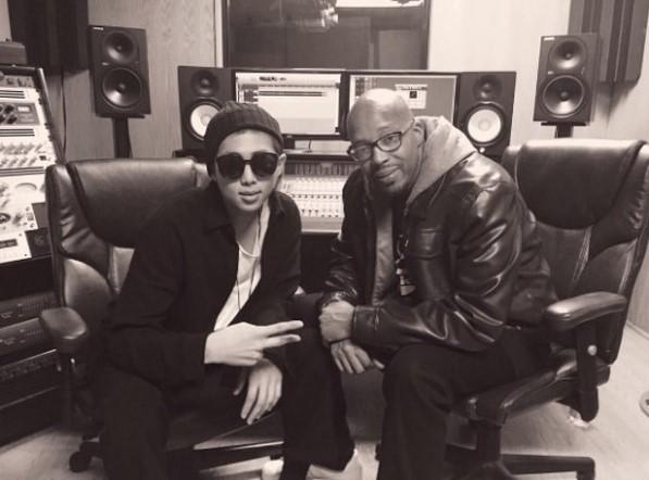 BTS leader Rap Monster, left, and Warren G, right (via Star News)
