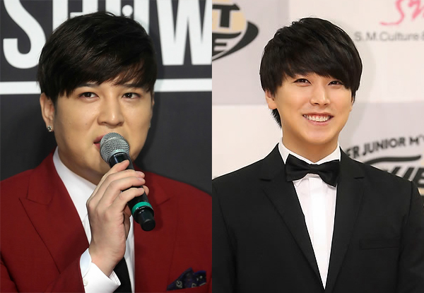 Super Junior's Shin-dong, left, and Sung-min (Yonhap)