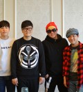 Left to right: 4men's Kim Won-joo and Shin Yong-jae, Vibe's Yoon Min-soo and Ryu Jae-hyun. (Tae Hong/Korea Times)