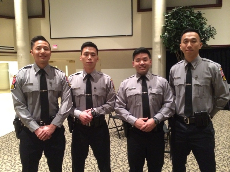From left, Shane Oh, John Hong, Arthur Cho and Seung Meang. (Courtesy of the Fairfax County Police Department)