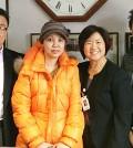 Park Sung-mi, second from left, donated toward the Korean Medical Program's Community Bridge Fund Wednesday. (Photo courtesy of KMP)