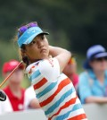 Lydia Ko of New Zealand tees off on the 17th hole during the second round of the HSBC Women's Champions golf tournament on Friday, March 6, 2015 in Singapore. (AP Photo/Wong Maye-E)