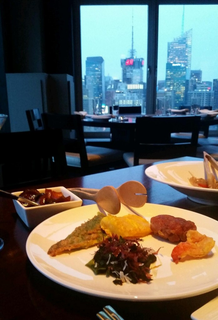This Feb. 26, 2015 photo shows the interior of Gaonnuri, a Korean restaurant with views of Manhattan from the 39th floor of a building on West 32nd Street in New York. The restaurant is one of a number of Korean eateries and karaoke bars on the street, called Korea Way or Koreatown. (AP Photo/Danny Harpaz)