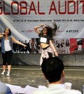 K-pop hopefuls participate in the 2015 Global Audition at LA Theatre Center Saturday. (Park Sang-hyuk/Korea Times)