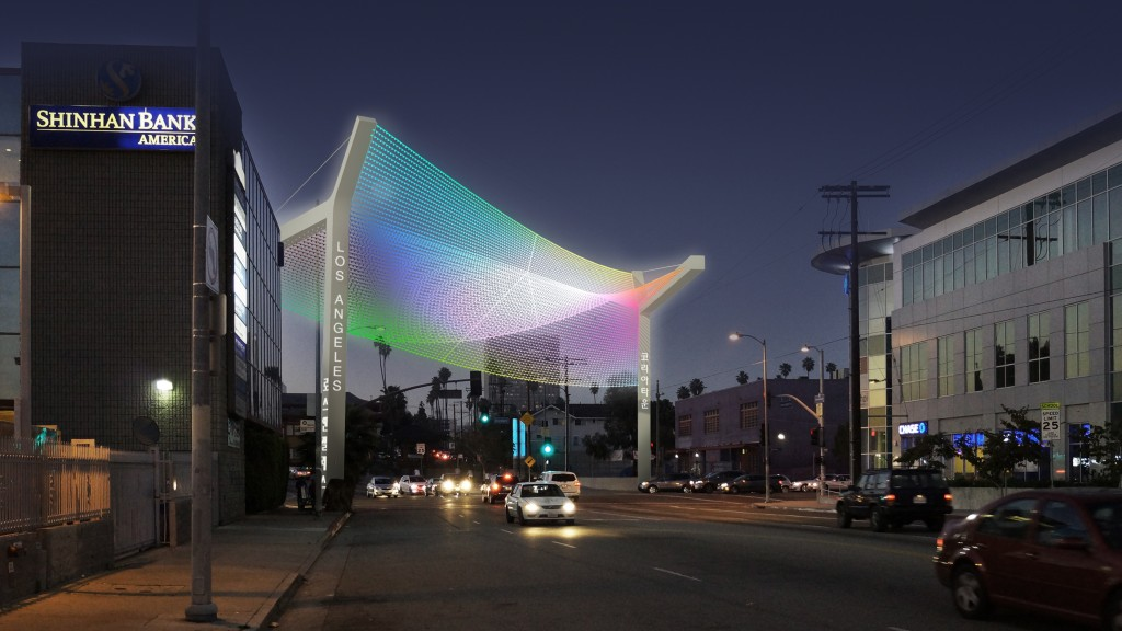 Plans for the Olympic Gateway in Koreatown, Los Angeles