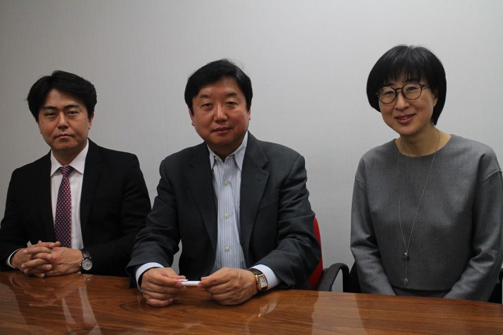 Korean Heritage Scholarship Foundation Board Director member Jeong Chang-Yong, President Edward Koo, Secretary Kay Kim