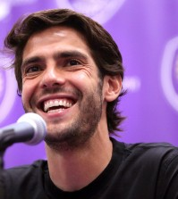 Orlando City superstar Kaka listens to a question during a news conference at the Orlando City Soccer media day in Orlando, Fla., Wednesday, March 4, 2015. The MLS players may go on strike if a new deal with the league isn't reached. They are fighting for free agency, but a raise in the minimum salary is also on the table as they negotiate a labor contract to replace the agreement that expired Jan. 31. (AP Photo/Orlando Sentinel, Joe Burbank)