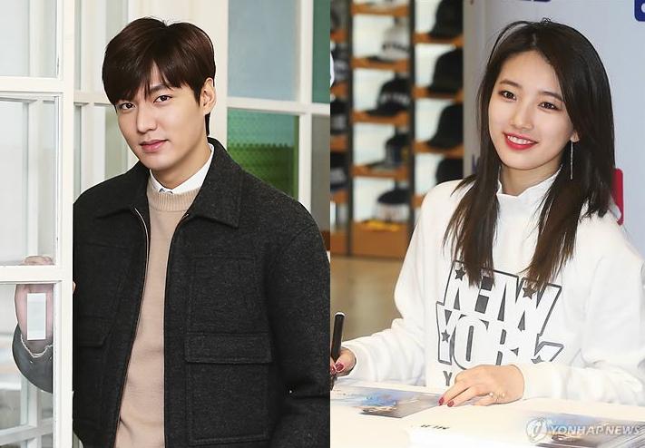 Lee Min-ho, Suzy (Yonhap)