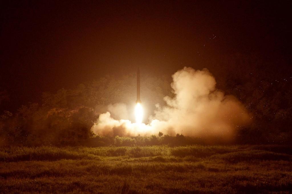 North Korea's tactical rocket firing on July 10, 2014. (Yonhap file photo)