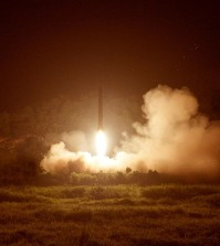 North Korea's tactical rocket firing on July 10, 2014. (Yonhap file photo)