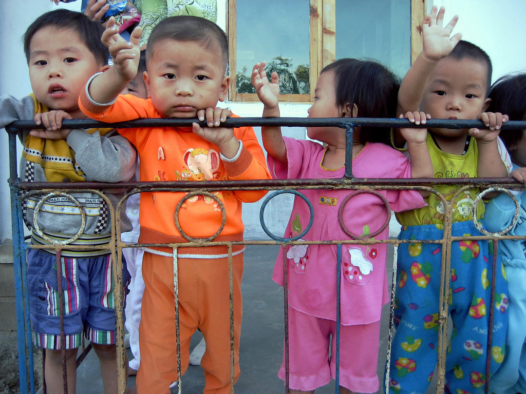Workers' children at a creche at Chonsam Cooperative Farm near Wonsan, Democratic People's Republic of Korea. (Courtesy of David Stanley via Flickr/Creative Commons)