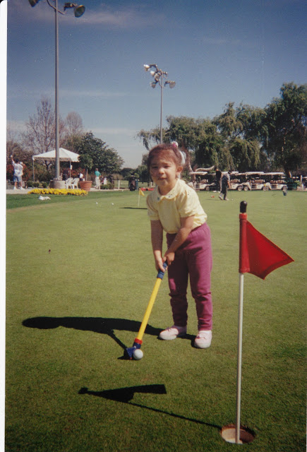 Alison Lee's first outing with plastic clubs at Whittier Narrows Golf Course in Rosemead, Calif. (Courtesy of Alison Lee)