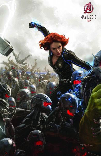 """Painting of """"Avengers: Age of Ultron"""" character Black Widow by Marvel Studios concept artist Andy Park (Courtesy of Marvel Studios/Disney)"""